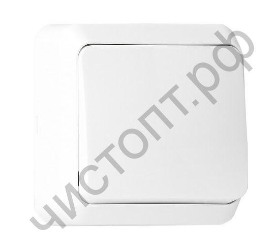 """Выключатель Smartbuy 1-клавишный 10А белый """"Юпитер"""" (SBE-03w-10-SW1-0) открытый"""