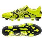 Бутсы adidas X 15.1 FG/AG Leather салатовые