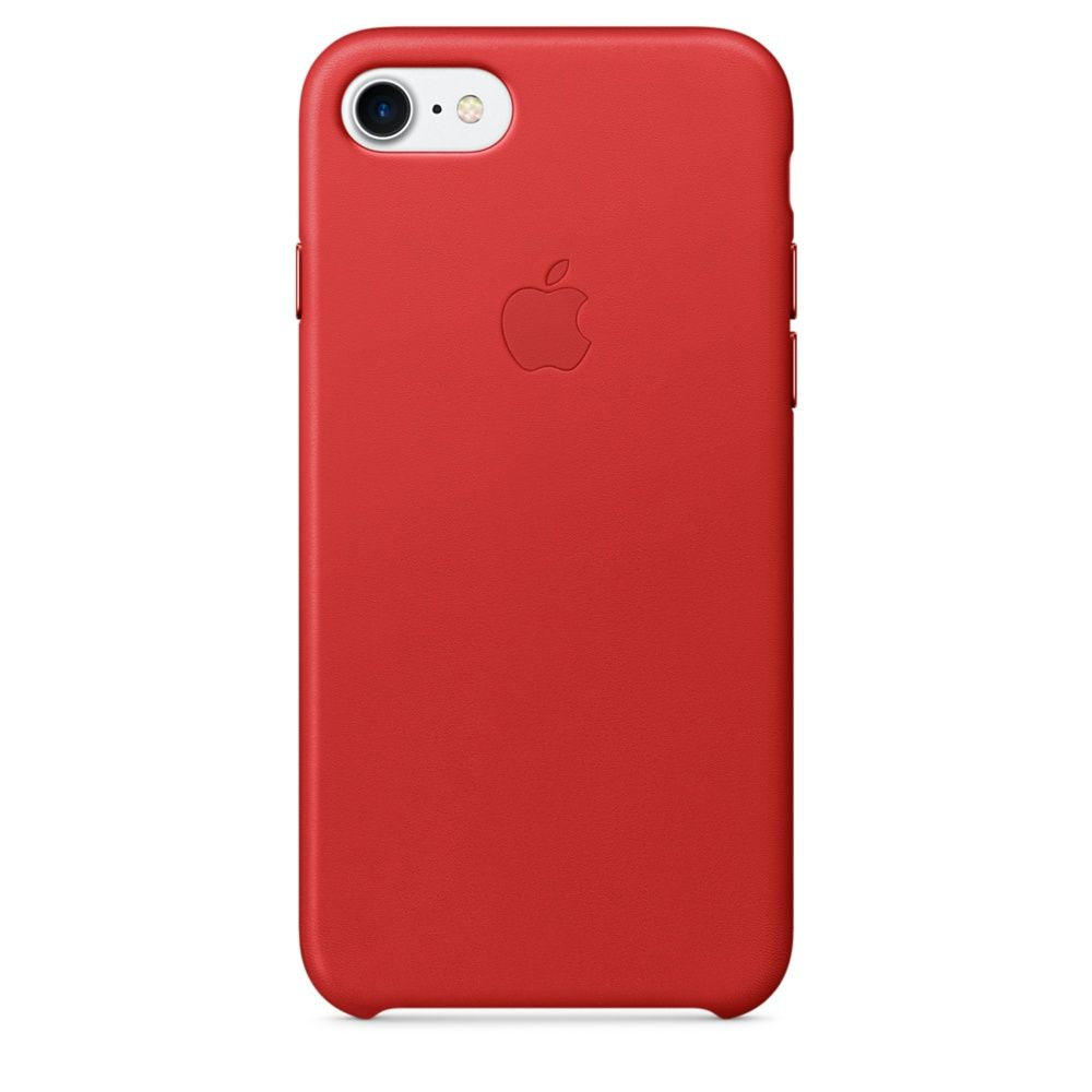 APPLE LEATHER CASE ДЛЯ IPHONE 7/8 red