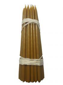 Свечи первый сорт №3ср вес 500 гр., высота 240 мм., диаметр 9 мм., 50 свечей в пачке.