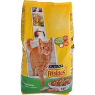 Friskies Сухой корм для кошек Кролик/овощи (2 кг)