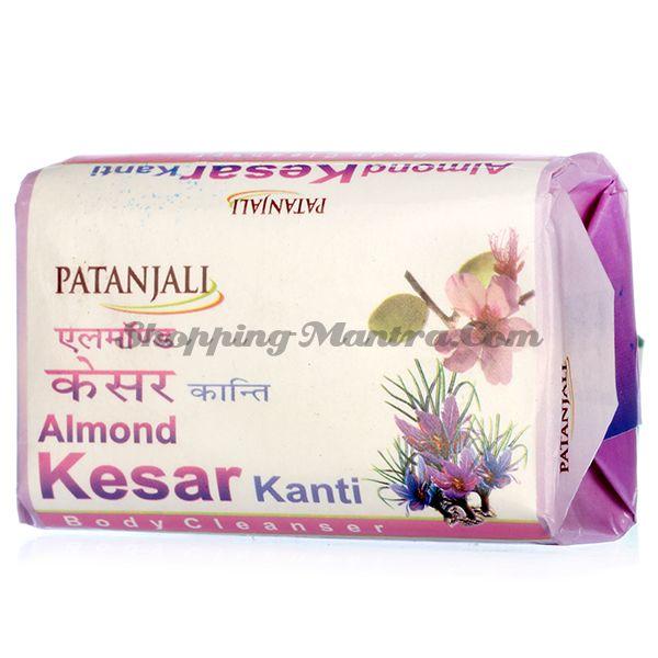 Мыло для лица и тела Миндаль&Шафран Патанджали Аюрведа / Divya Patanjali Kanti Almond Kesar Soap