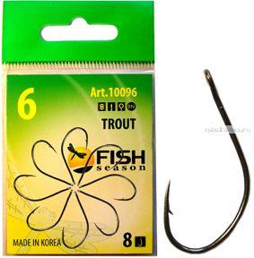 Крючки Fish Season FS Trout  одинарные  с большим ушком ( упаковка 8 шт)(Артикул:10096)