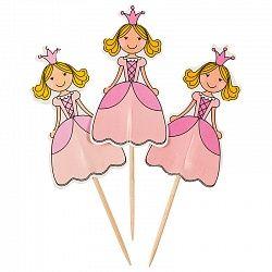 Пики для канапе и капкейков принцессы