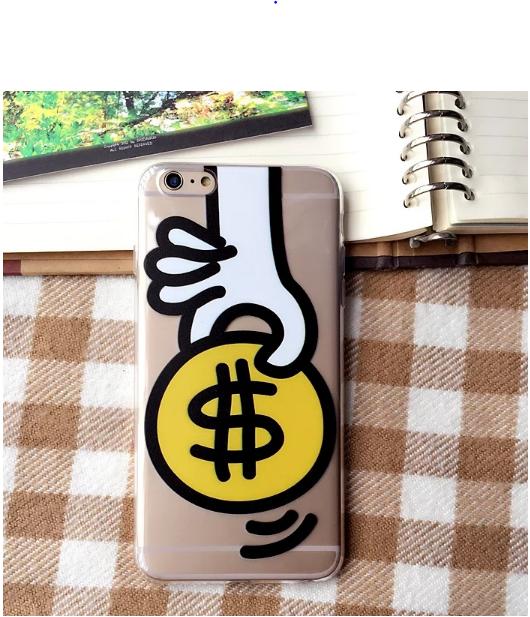 Силиконовый чехол с монеткой для iPhone 6/6s