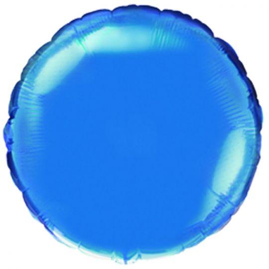 Круг синий большой шар фольгированный с гелием