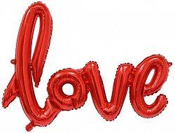 Слово love  фольгированный шар с воздухом красный