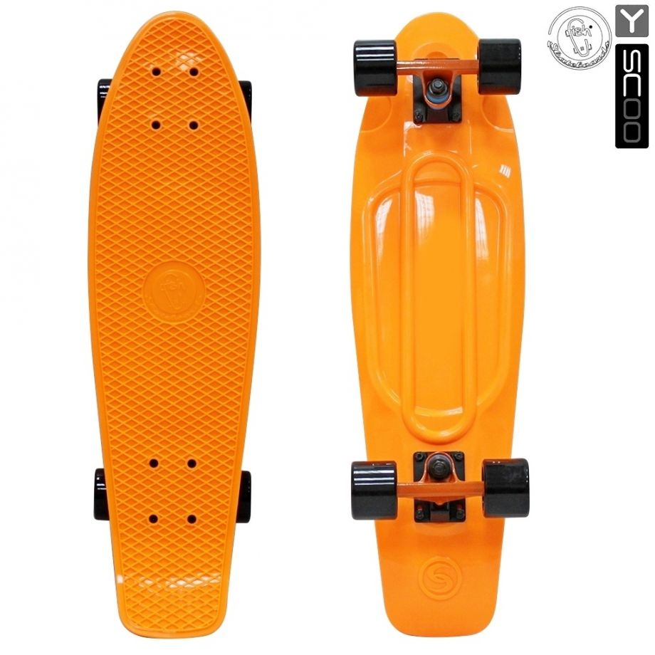Скейтборд Y-SCOO Big Fishskateboard 27″ винил с сумкой ORANGE/black
