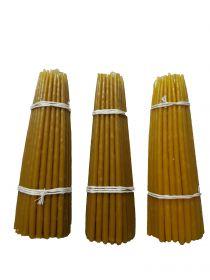 Восковые свечи третьего сорта №2 вес 210 гр., высота 200 мм., диаметр 7 мм., 50 свечей в пачке.