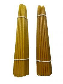 Восковые свечи третьего сорта №4 вес 410 гр., высота 300 мм., диаметр 7 мм., 50 свечей в пачке.