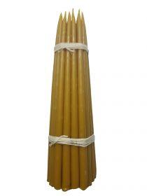 Восковые свечи третьего сорта №4т вес 630 гр., высота 290 мм., диаметр 13 мм., 25 свечей в пачке.