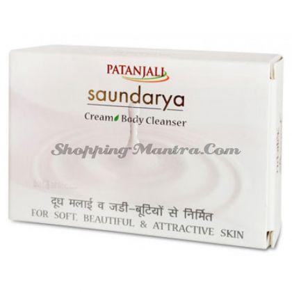 Мыло для лица и тела Сундарья Сливки Патанджали Аюрведа / Divya Patanjali Saundarya Cream Body Cleanser