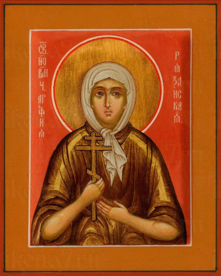 Икона Агафья Агломазовская (рукописная)