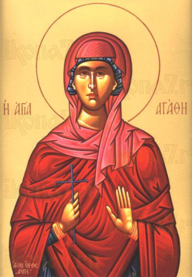 Икона Агафия Панормская (рукописная)