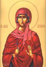 Агафия Панормская (рукописная икона)