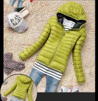 Демисезонная куртка-пуховик с капюшоном