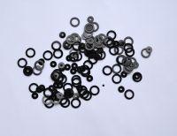 Кружочки черные (кольца) разных размеров
