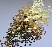 Кружки золото для дизайна ногтей (3мм)