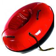 Тюбинг с пластиковым дном серии Профи 105 см, цвет красный