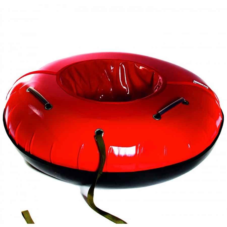 Тюбинг 105см с пластиковым дном Профи красный