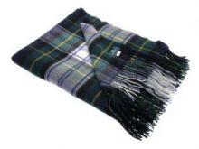 Легкий плед, 100 % стопроцентная шотландская овечья шерсть, расцветка клана Гордон, плотность 6