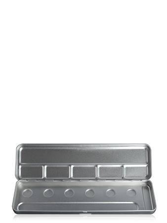 Make-Up Atelier Paris Palette Metal Vide M6C 6 Holes Metal Box