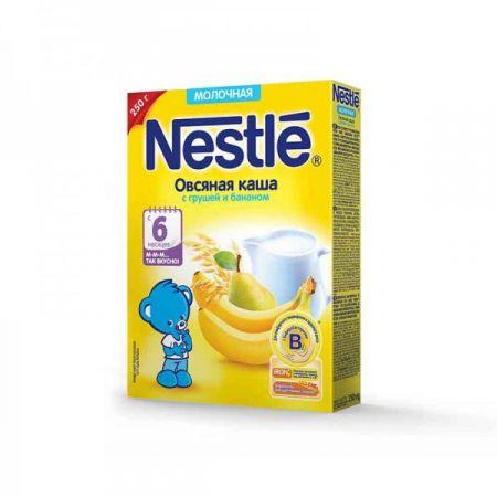Каша молочная Nestle овсяная с грушей и бананом (с 6 мес.) 250 г