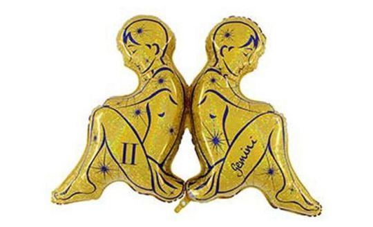 Знак Зодиака Близнецы фольгированный шар с гелием