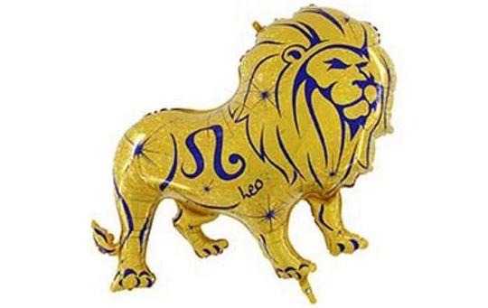 Знак Зодиака Лев фольгированный шар с гелием