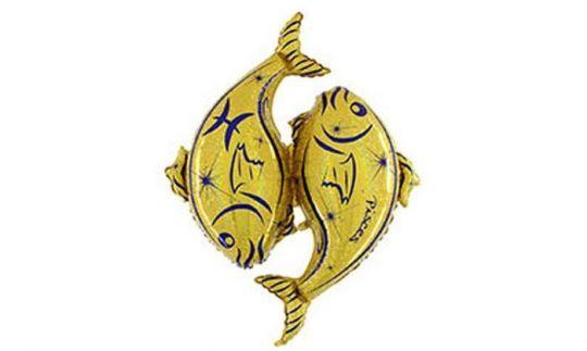 Знак Зодиака Рыбы фольгированный шар с гелием