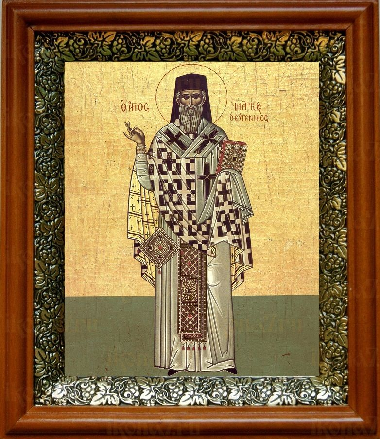 Марк Ефесский (19х22), светлый киот