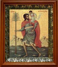 Христофор Псеглавец (19х22), светлый киот