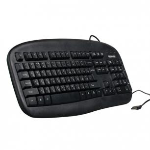 Клавиатура проводная SONNEN KB-320, USB, черная, 511293