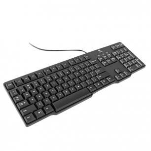 Клавиатура проводная LOGITECH K100 Classic, PS/2, 104 клавиши, черная, 920-003200