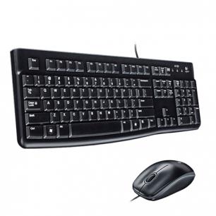 Набор проводной LOGITECH Desktop MK120,USB, клавиатура, мышь 2кн+1к-кнопка, 1000dpi, чер., 920-002561
