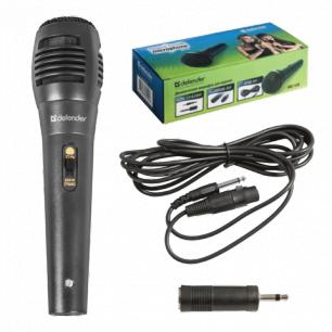 Микрофон DEFENDER MIC-129, проводной, кабель 5м, черный, 64129