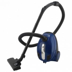 Пылесос SUPRA VCS-1400, с пылесборником , потреб. мощность 1400Вт, мощность всасывания 340Вт, синий