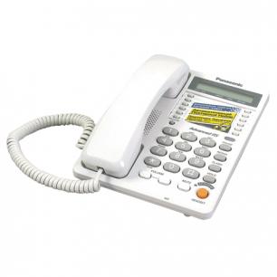 Телефон PANASONIC KX-TS2365RUW, память 30 ном., ЖК дисплей с часами, автодозвон, спикерфон