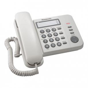 Телефон PANASONIC KX-TS2352RUW, белый, пам 3 ном, повторный набор, тон/имп режим, индикатор вызова