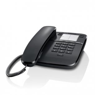 Телефон GIGASET DA310, память 4 ном., повтор номера, тональный/импульсный набор, цв.черный