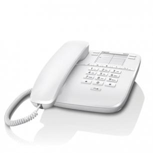 Телефон GIGASET DA310, память 4 ном., повтор номера, тональный/импульсный набор, цв.белый