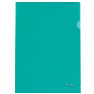 Папка-уголок BRAUBERG, зеленая 0,10мм, 223965