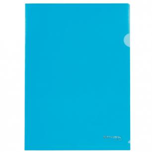 Папка-уголок BRAUBERG, синяя 0,10мм, 223964