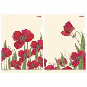 "Папка-уголок с рисунком ""Хатбер"" HD, А4, Red on White, ассорти, 0,18мм, AG4 (V196021)"