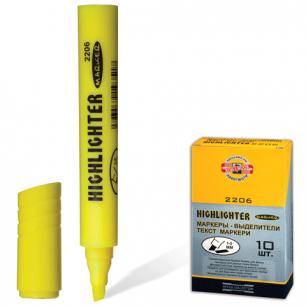 Текстмаркер KOH-I-NOOR скошенный наконечник 1-5 мм, желтый, 7722060101KSRU