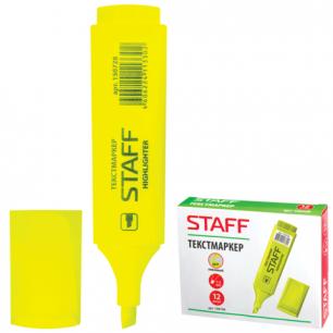 Текстмаркер STAFF эконом, скошенный наконечник 1-5 мм, лимонный, 150728