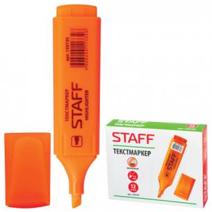 Текстмаркер STAFF эконом, скошенный наконечник 1-5 мм, оранжевый, 150730