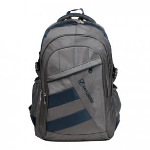 """Рюкзак для школы и офиса BRAUBERG """"MainStream 2"""", разм. 45*32*19см, ткань, серо-синий, 224446"""