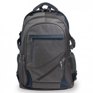 """Рюкзак для школы и офиса BRAUBERG """"MainStream 1"""", разм. 45*32*19см, ткань, серо-синий, 224445"""