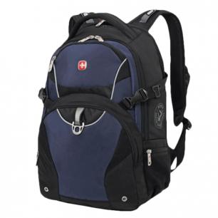 Рюкзак WENGER (Швейцария), универсальный, черно-синий, 36*19*47см, 32л, 3263203410